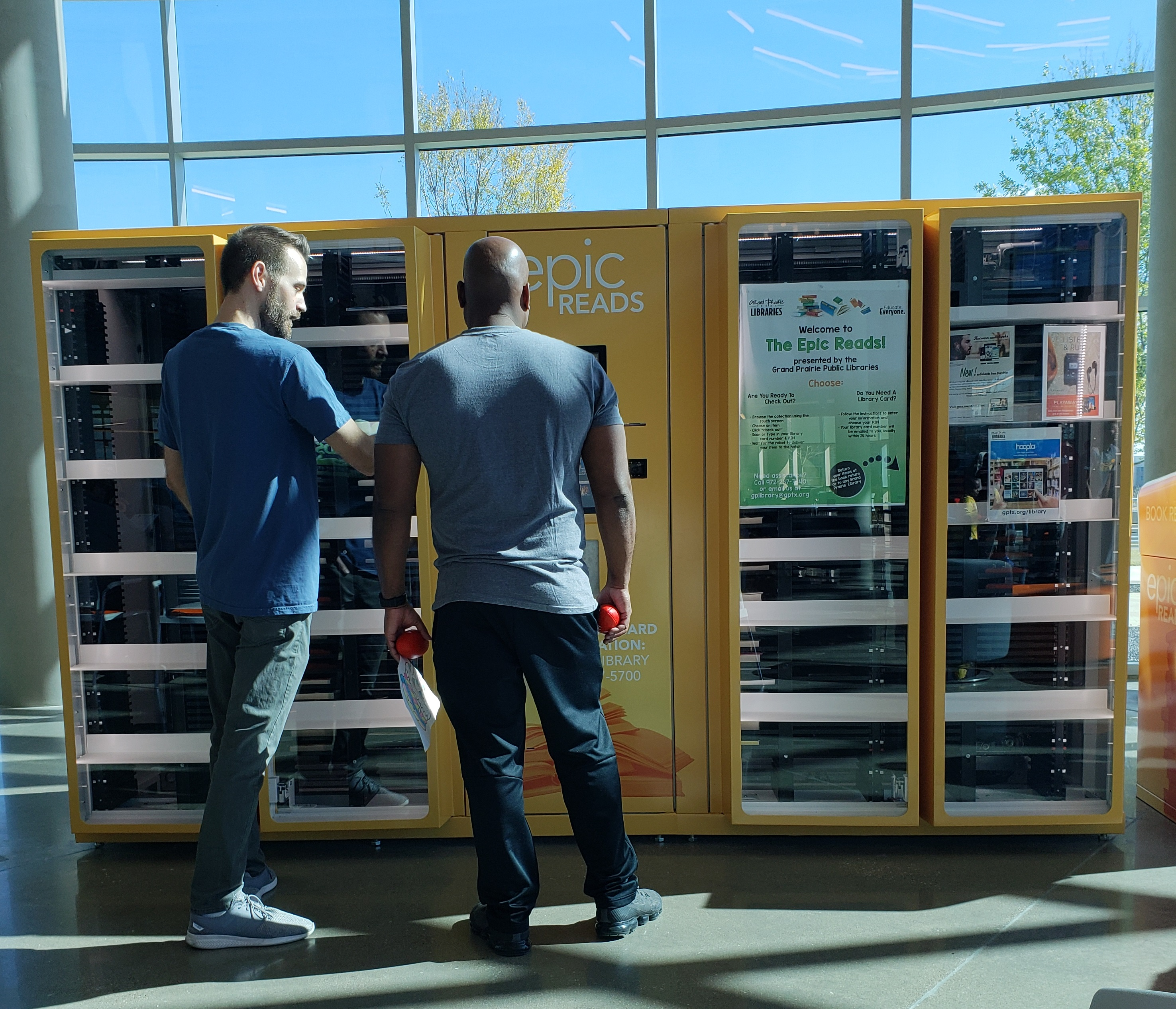 Grand Prairie Launches Vending Library in Epic Rec Center