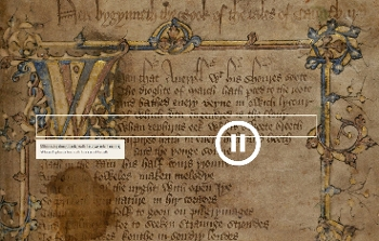 Canterbury Tales App, screenshot from PC version