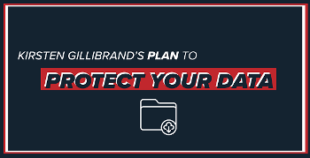 Kirsten Gillibrand's Plan to Protect Your Data (graphic with text)