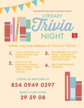 Nashville Public Library trivia poster with instructions
