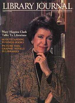 Mary Higgins Clark on Library Journal's March 15, 1990 cover
