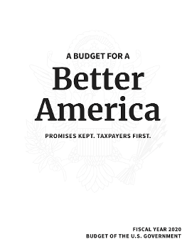 FY20 budget title page