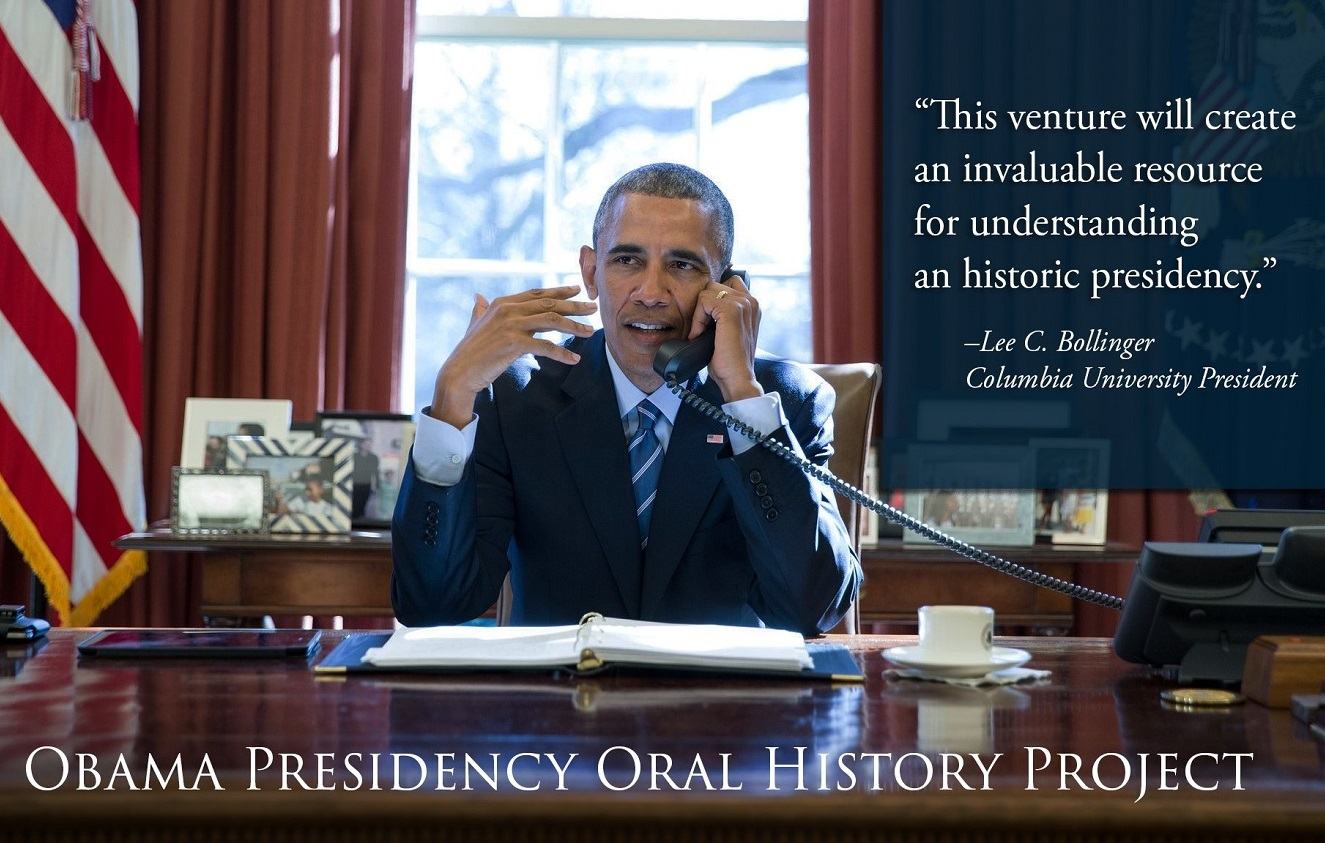 Columbia to Produce Obama Presidential Oral History
