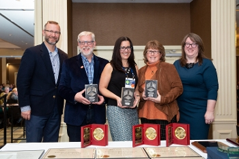 Sustainable Libraries Certification Program recipients at NYLA awards