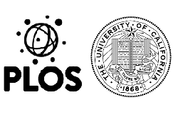 Public Library of Science and University of CA logos
