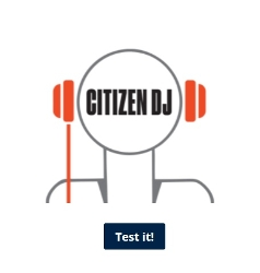 Citizen DJ logo in stylized head with headphones