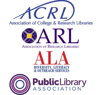 stacked logos for ACRL, ARL, ODLOS, and PLA