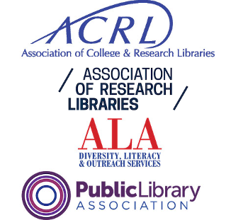 ACRL, ARL, ALA, PLA logos stacked up