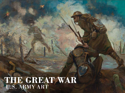 The Great War U.S. Army Art showing painting of soldiers