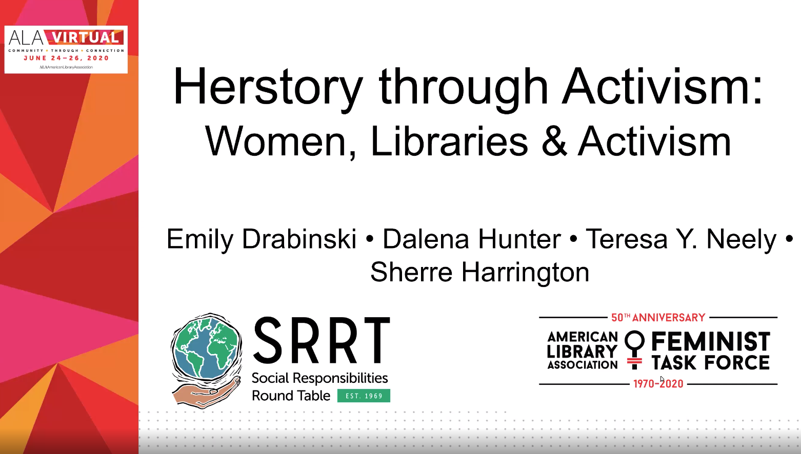 Intersections of Women, Libraries, and Activism | ALA Virtual 2020