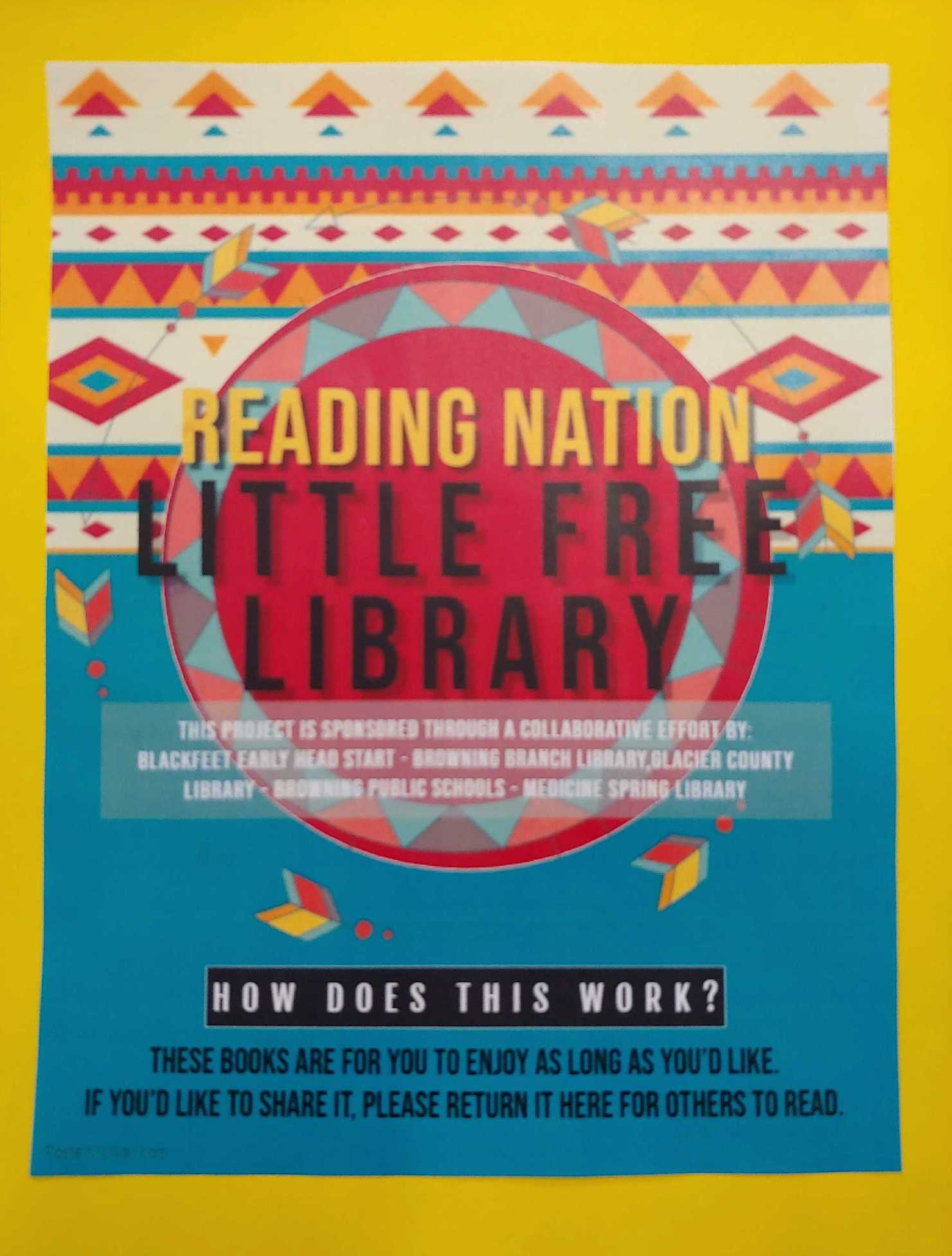 IMLS-Funded Reading Nation Waterfall Project To Bring Curated Little Free Libraries To Native American Children