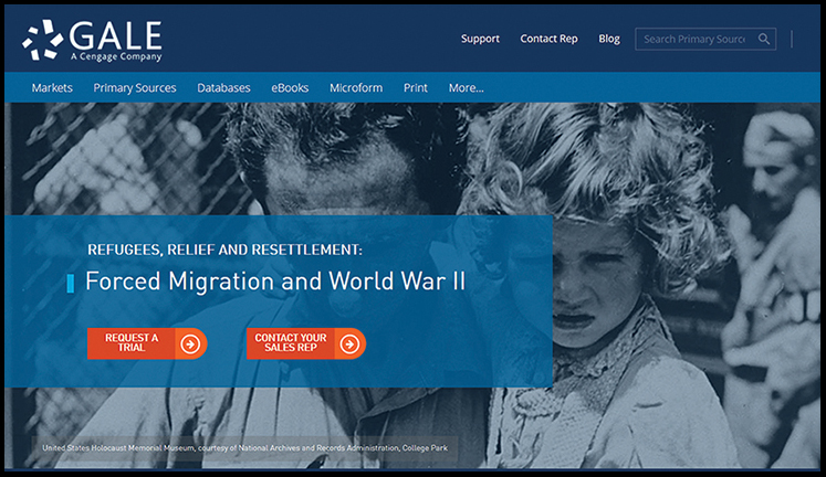 Gale Refugees, Relief, and Resettlement: Forced Migration and World War II database | Reference eReviews