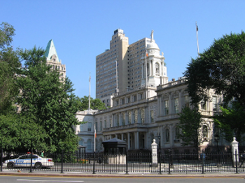exterior of New York City Hall building