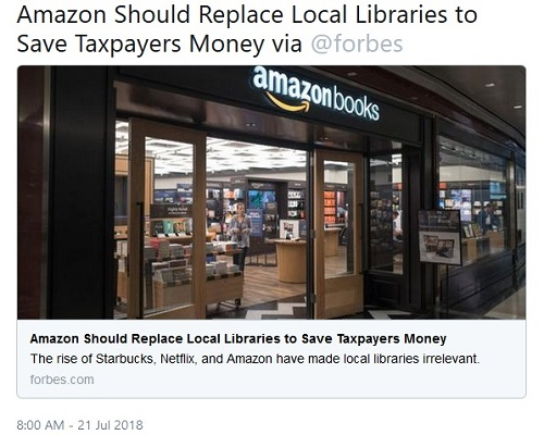 Forbes Article Sparks Impassioned Defense of Libraries