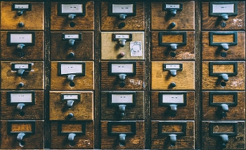 image of an old school card catalog