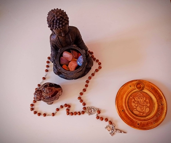Rosary and other religious objects