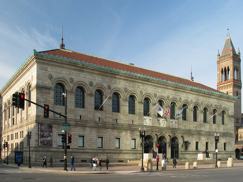 File:USA Boston Public Library 2 MA.jpg by Daniel Schwen is licensed under CC BY-SA 2.5