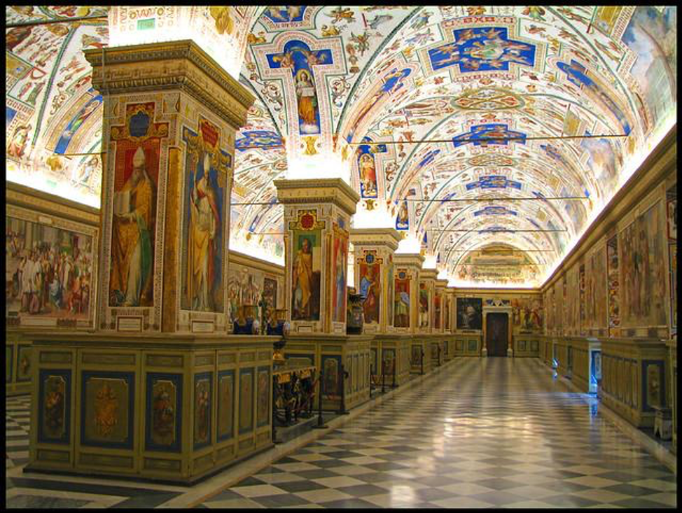 Vatican library interior